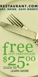 Get a FREE $25 GIFT CARD FROM RESTAURANT.COM